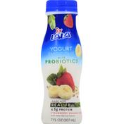 LALA Strawberry Banana Cereal Yogurt Smoothie with Probiotics