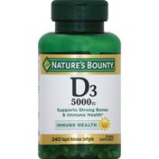 Nature's Bounty Vitamin D3, 5000 IU, Rapid Release Softgels