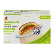SB Sandwich Bags Double Zipper - 200 CT