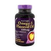 Natrol Omega-3 Flax Seed Oil, 1000 mg, Softgels