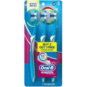 Oral-B Complete Oral-B Complete 5 Way Clean Medium Toothbrush, 2+1 Bonus Manual Oral Care