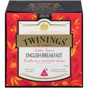 Twinings Golden Tipped English Breakfast Black Tea Large Leaf Bags