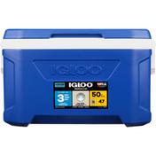 Igloo Cooler, Profile II, Blue, 50 Quarts