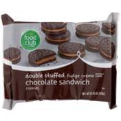 Food Club Double Stuffed Fudge Creme Chocolate Sandwich Cookies