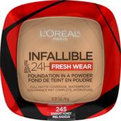 L'Oreal Foundation, Fresh Wear, Radiant Honey 245