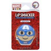 Lip Smacker Lip Balm Pots, Heroic White Chocolate Flavor, Marvel Captain America