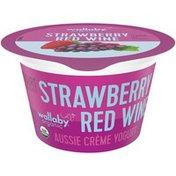 Wallaby Organic Strawberry Red Wine Flavor Aussie Creme Yogurt