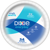 Dixie Plates, Simply White, 10.06 Inch
