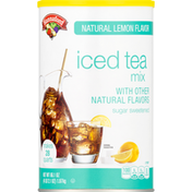 Hannaford Iced Tea Mix, Natural Lemon Flavor