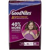 GoodNites Bedtime Bedwetting Underwear for Girls
