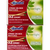 Diamond Greenlight Strike On Box Matches