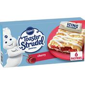 Pillsbury Toaster Strudel, Cherry, Frozen Pastries, 6 Count