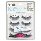 Ardell Lashes, Black 117, Multipack Deluxe