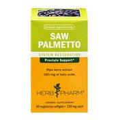 Herb Pharm Saw Palmetto System Restoration Herbal Supplement Vegetarian Softgels - 60 CT