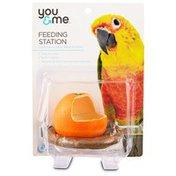 You & Me Orange Seed Cup Bird Feeder