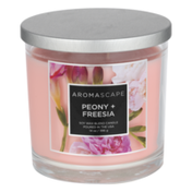 Aromascape Soy Wax Blend Candle Peony + Freesia