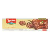 Loacker Patisserie Hazelnut, Crème-filled Milk Chocolate Wafer Biscuit