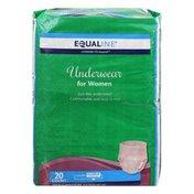 Equaline Underwear, for Women, Moderate, Maximum Absorbency, Small/Medium