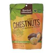 Blanchard & Blanchard  Chestnuts, Organic, Whole, Roasted & Peeled