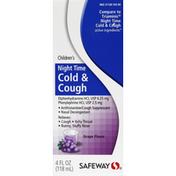 Safeway Cold & Cough, Night Time, Children's, Grape Flavor