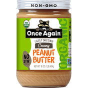 Once Again Peanut Butter, Creamy, Organic, Lightly Sweetened