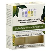 Aura Cacia Air Freshener Refill, Electric, Refreshing Lime & Grapefruit