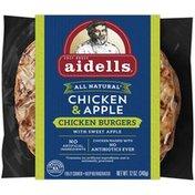 Aidells Burgers, Chicken, Chicken & Apple