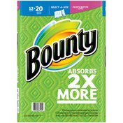 Bounty Select-A-Size Paper Towels, Print, 12 Mega Rolls= 20 Regular Rolls Towels/Napkins