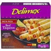 Delimex Salsa Roja Beef XL Flour Taquitos