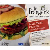 Dr. Praeger's Pollock Burgers, Black Bean Chipotle
