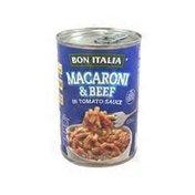 Bon Italia Macaroni And Beef In Tomato Sauce