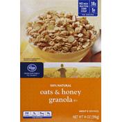 Kroger Cereal, 100% Natural, Oats & Honey