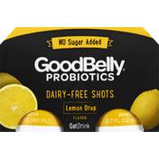 GoodBelly OatDrink, Dairy-Free Shots, Lemon Drop Flavor