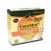 Europharma Cura Med 350mg Tangerine Effervescent Tablets