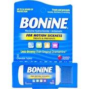 Bonine For Motion Sickness, Chewable Tablet, Raspberry Flavor