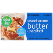 Food Club Unsalted Sweet Cream Butter