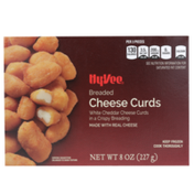 Hy-Vee White Cheddar Cheese Curds In A Crispy Breading