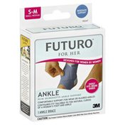 FUTURO Ankle Support, Slim Silhouette, Small-Medium, For Her