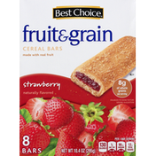 Best Choice Cereal Bars, Fruit & Grain, Strawberry