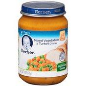 Gerber Mixed Vegetables & Turkey Purees Dinner