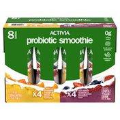 Activia Probiotic Smoothie Lowfat Yogurt Drinks Variety Pack