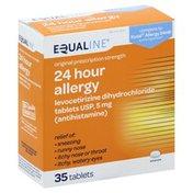 Equaline Antihistamine, 5 mg, 24 hour Allergy, Tablets