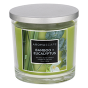 Aromascape Soy Wax Blend Candle Bamboo + Eucalyptus