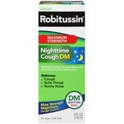 Robitussin Adult DM Nighttime Max Maximum Strength Liquid Cough Suppressant/Antihistamine