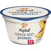 Yoplait Greek Yogurt, 100 Calories, 14g Protein, Fat Free Yogurt, Peach