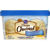 Kroger Ice Cream, Reduced Fat, No Sugar Added, Vividly Vanilla