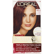Excellence Permanent Haircolor, Dark Mahogany Red 4RM