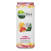 Coco Libre Organic Sparkling Coconut Water Melon Grapefruit