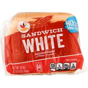 Ahold Enriched Bread, White, Sandwich