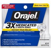 Orajel 3X Medicated For All Mouth Sores Gel